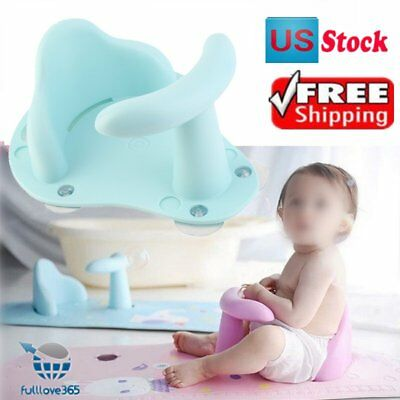 Baby Bath Tub Ring Seat Infant Child Toddler Kids Anti Slip Safety Chair FV