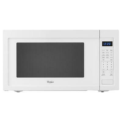 Whirlpool 2.2 cu. ft. Countertop Microwave White Sensor Cooking WMC50522AW Dent