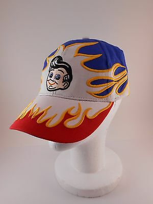 Bob's Big Boy Hat Red White Blue Flames Racing Cap Embroidered Stitching