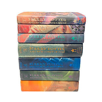 HARRY POTTER Complete Hardcover Book Set 1-7 J.K. Rowling 1st American VERY GOOD