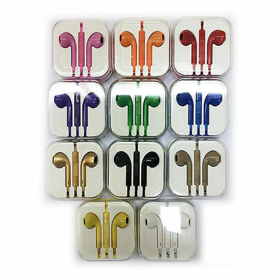 Full color Headphone Earphone Mic vol for iPad iPod iPhone Samsung 7 6 6s 5 5S