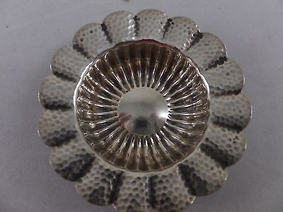 Duhme & Co. Aesthetic Hammered Sunflower Shaped Butter Pats Japanese 1880's (11)