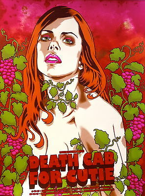 Death Cab for Cutie Poster 2009 Concert Tour Signed and Numbered