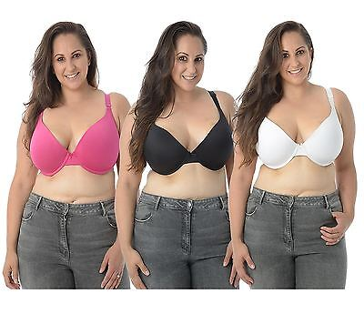 New Womens Smooth Push-Up Bra Adjustable Straps Bow Padded Lingerie Bra 36D-42DD