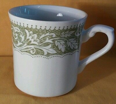 VINTAGE-J & G Meakin England Green Flower Cup/Tea Cup - Marked ENGLAND
