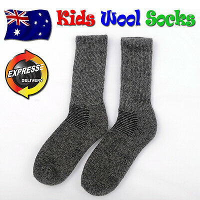 5 x Kids / Youth Wool Socks: Boys & Girls Quality footwear (Warm Grey)