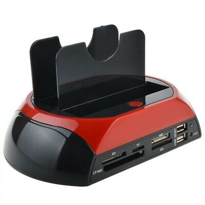 Docking Station 2 Hard Disk 2.5 3.5 Sata Ide E-Sata Usb 2.0 3.0 Lettore Hdd Sd
