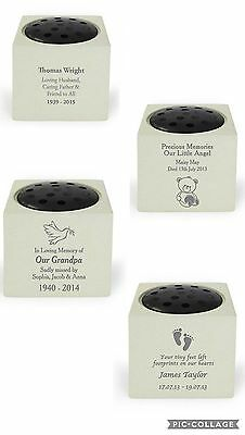 Personalised Memorial Vase Grave Flowers Bowl Baby Memorial Vase Flower Holder
