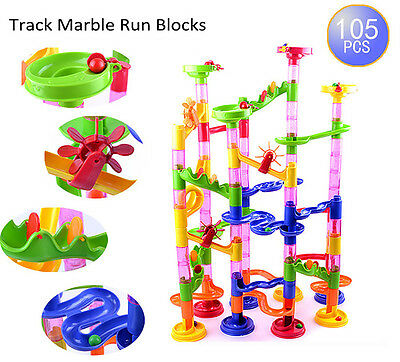Deluxe Marble Race Game Marble Run Play Set 105pcs Developing Building Kids Toys