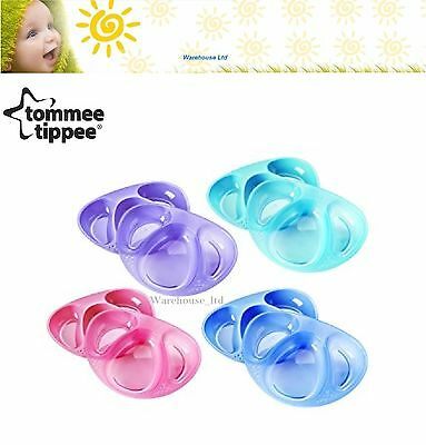 Four Colours!! Tommee Tippee Pack of 2 Explora Section Plates-Brand New