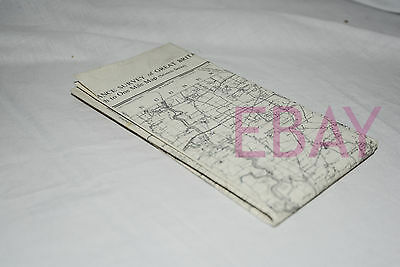 LINCOLN AND GRANTHAM Ordnance Survey Rare OUTLINE Map