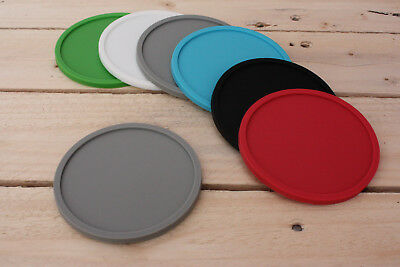 Premium Rubber Silicone Hot Drink Coasters Place Mat Coffee Tea Mug - 4 Pack