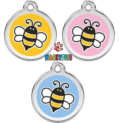 Bumble Bee Engraved / Personalised Dog ID identity Tags /Discs by Red Dingo