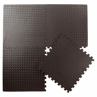 144 SQ FT Interlocking Eva Foam Exercise Floor Mats Gym Garage House Office Mat