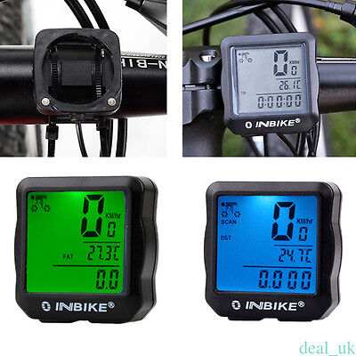 Waterproof MTB Bike Cycle LCD Digital Computer Speedometer Odometer