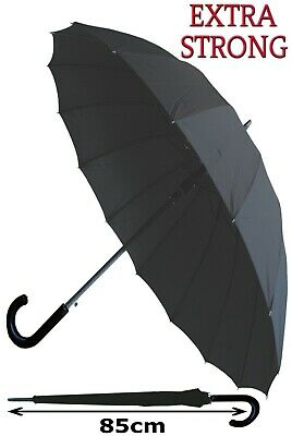 Collar And Cuffs London - Strong Windproof Automatic 16 Rib Umbrella Rrp £50