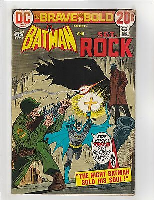 Brave and the Bold (1955) #108 GD 2.0 DC Comics Sgt. Rock & Batman
