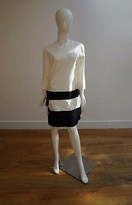 Chloe Black & Ecru Dress Size 42/UK12 /14             4132