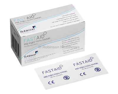 FastAid NHS Grade 70% IPA Alcohol Swabs Pre-Injection Cleansing Alcotips Tattoo