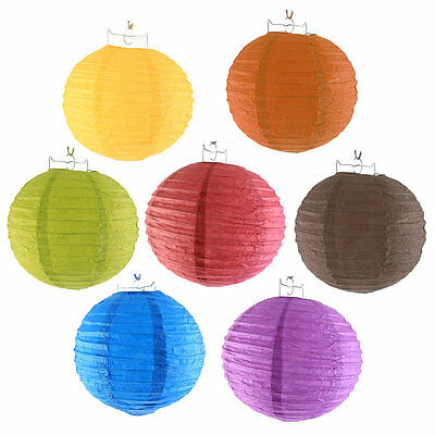 10pcs 8-10 Inch Colorful Chinese Paper Lanterns Ball For Wedding Festival XO