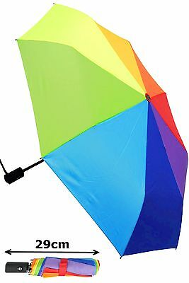 Collar And Cuffs London - Windproof Strong Automatic Rainbow Umbrella Rrp £50