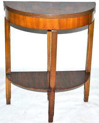 Vintage Walnut Demilune Console Card Table - FREE Shipping [PL2812]