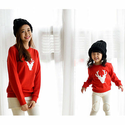 Christmas Family Look Deer Mommy and Me Clothes Matching Family Clothing Sets EP