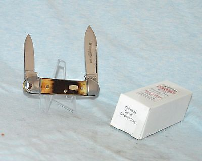 "Schatt & Morgan Torched Stag Canoe Knife ""1 Of 20!"" Near Mint With Case /box"