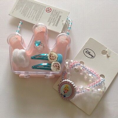 NWT Sz: 3+, Frozen Jewelry Box & Princess Bracelet with pendent