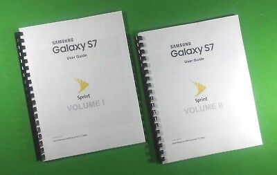 Samsung Galaxy S7 For Sprint 8.5X11 323 Page Owners Manual Laser