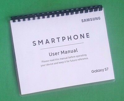 Samsung Galaxy S7 For US Cell 190 Page Owners Manual Laser Printed