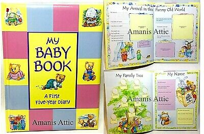 New My Baby Book First Five Year Diary Record Book Ideal Present Keepsake Gift