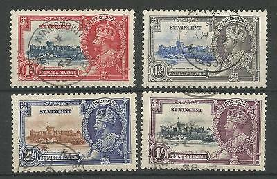 St Vincent The 1935 Gv Silver Jubilee Set Fine Used Cat £25