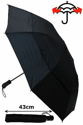 Collar And Cuffs London - Windproof Strong Automatic Bi-Fold Umbrella - Rrp £50