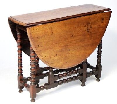 Victorian Carved Oak Sutherland Drop Leaf Oval Table - FREE Shipping [PL3080]