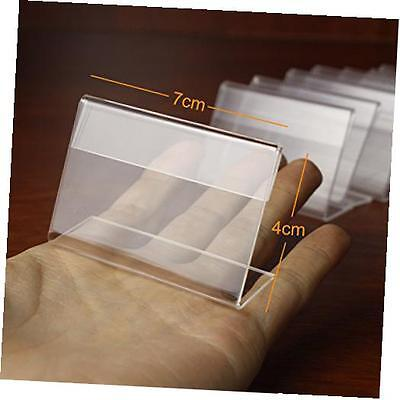 30pcs sign display holder price name card tag label counter top stand case 7cm