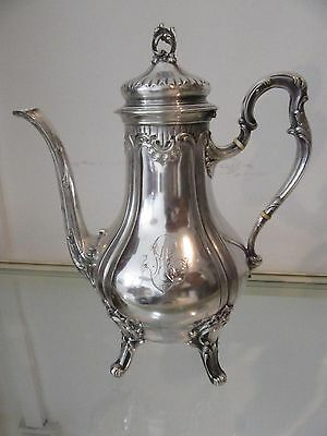 1900 french sterling silver minerve 950 coffee pot rococo st 665gr 23,4oz Beunke