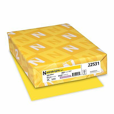 Paper Printer Fax Color Solar Yellow Copy New 500 Papers Office