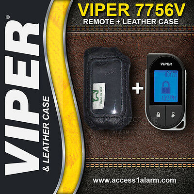 Viper 7756V 2-Way 1-Mile LCD Remote Control AND Leather Case For The Viper 4606V