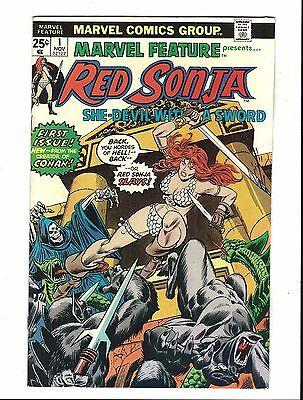 MARVEL FEATURE # 1 (1st RED SONJA, CENTS, NOV 1975), VF
