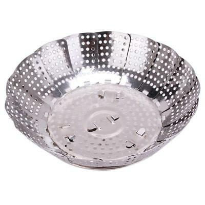 Stainless Steel Folding Dish Vegetable Food Steamer Basket & Strainer Cooker C