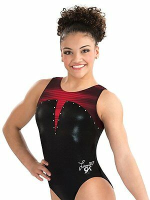 New Gymnastics GK Laurie Hernandez Lady in Red Child Medium CM 8-10