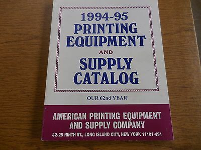 Printing Press Equipment Supply Catalog