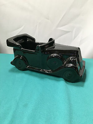 McCoy Floraline Black Car Planter - USA Pottery - Vintage