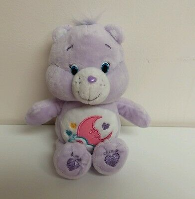"Care Bears Special Edition Lavender 9"" Pink Moon Plush Best Friend Bear Toy Doll"