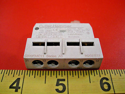 Cutler Hammer C320FMC11 Ser A1 Auxiliary Contact Block Switch 240v 1a New Nnb