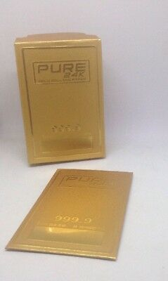Pure 24k One Pack Pure 24k Gold Cigarette Rolling Papers 1 1/4 Size (2 Sheets)