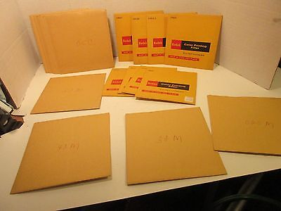 "Lot of 21 Never Used Color Printing Filters 6"" / 18 Kodak 5"" Filter Packs Free"