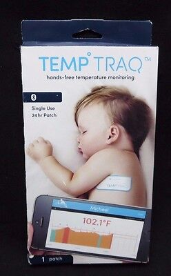 TEMP TRAQ Hands-Free TEMPERATURE MONITORING Bluetooth Single Use 24 hour 1 06/18