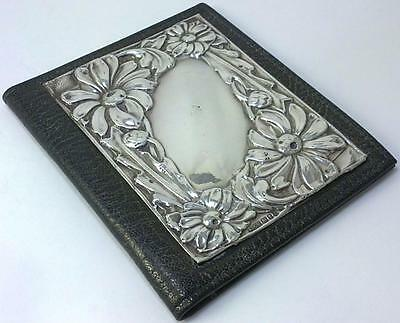 Vintage hallmarked Sterling Silver-fronted Leather Credit Card Case/Wallet –1995